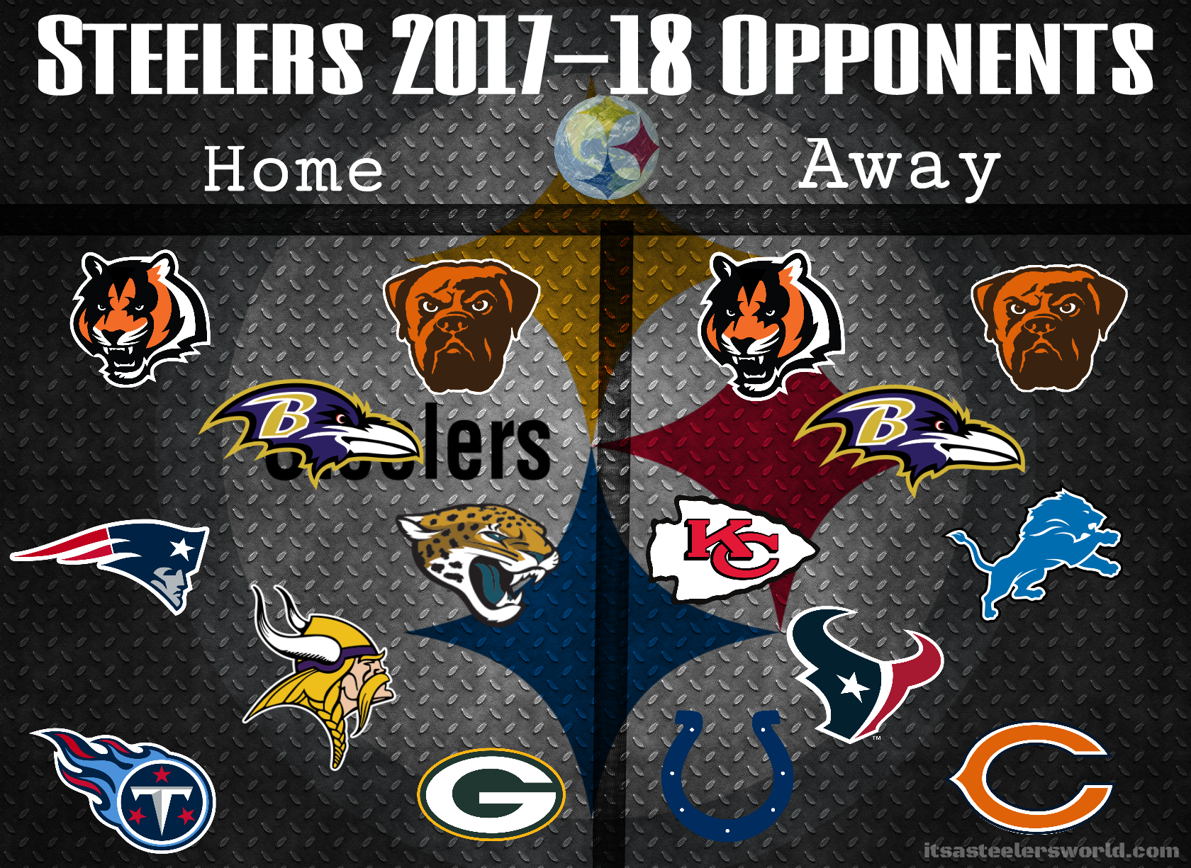 Steelers 201718 Opponents Wallpaper ITS A STEELERS WORLD